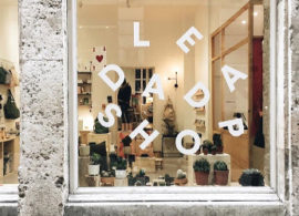 LEDADASHOP is a concept store open in Lyon France, logo designed by Jeff Pag