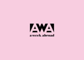 A WEEK ABROAD - AWA - LOGO - BRANDING